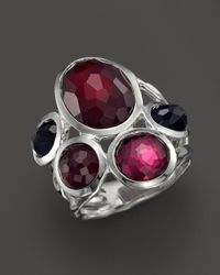 Ippolita | Red Sterling Silver Wonderland 5 Stone Ring In Harlow | Lyst