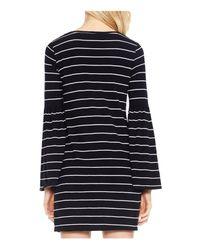 Vince Camuto - Black Bell Sleeve Nova Stripe Knit Dress - Lyst