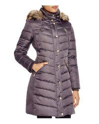 MICHAEL Michael Kors Purple Coat - Ruched