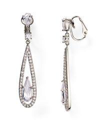 Carolee | Metallic Linear Drop Clip On Earrings | Lyst