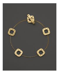 Roberto Coin | Metallic 18k Yellow Gold Pois Moi Square Station Bracelet | Lyst