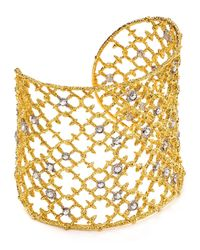 Alexis Bittar - Metallic Elements Crystal Studded Spur Lace Cuff - Lyst