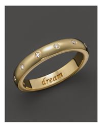"Monica Rich Kosann | Metallic 18k Yellow Gold ""dream"" Posey Ring With Diamonds 
