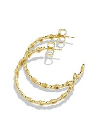David Yurman - Metallic Venetian Quatrefoil Hoop Earrings With Diamonds In Gold - Lyst