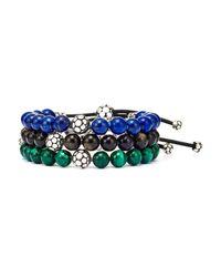John Hardy - Blue Dot Bead Bracelet - Lyst