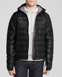 Canada Goose   Black Hybridge Lite Hooded Down Jacket for Men   Lyst