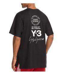 Y-3 Black Street Crewneck Short Sleeve Tee for men