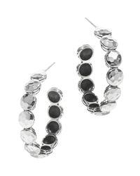 John Hardy | Metallic Women's Palu Silver Disc Small Hoop Earrings | Lyst