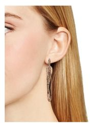 Alexis Bittar Metallic Miss Havisham Encrusted Orbiting Hoop Earrings