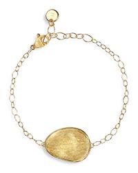 Marco Bicego | Metallic 18k Yellow Gold Engraved Lunaria Pendant Bracelet | Lyst