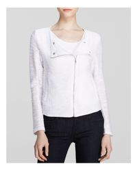 Kut From The Kloth White Knit Moto Jacket