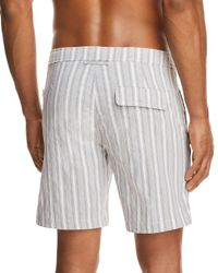 Onia - Gray Calder Striped Swim Trunks for Men - Lyst