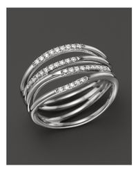 Dana Rebecca - 14k White Gold Wisp Ring With Diamonds - Lyst
