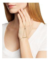 Rebecca Minkoff | Metallic Crystal Stone Handchain | Lyst
