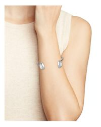 Rebecca Minkoff - Metallic Two Stone Bangle - Lyst