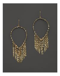 Lana Jewelry | Metallic 14k Yellow Gold Oval Fringe Earrings | Lyst