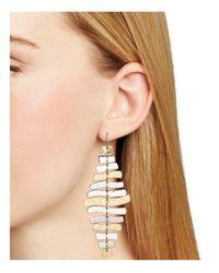 Robert Lee Morris - Metallic Wishbone Chandelier Earrings - Lyst