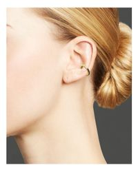 Zoe Chicco | Metallic 14k Gold Reversible Ear Cuff With Black And White Diamonds | Lyst