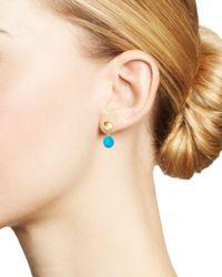 Bloomingdale's Multicolor Turquoise Drop Earrings In 14k Yellow Gold