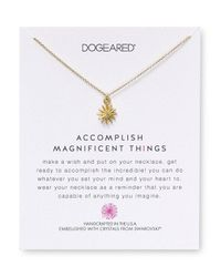 Dogeared | Metallic Swarovski Crystal Accomplish Magnificent Things Necklace, 18"