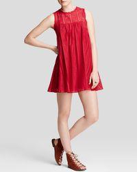 Free People | Red Dress - Tu Es La Mini | Lyst