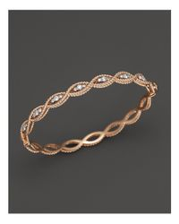 Roberto Coin | Pink 18k Rose Gold New Barocco Diamond Bangle | Lyst