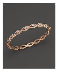Roberto Coin - Pink 18k Rose Gold New Barocco Diamond Bangle - Lyst