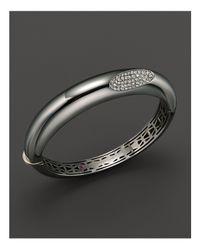 Roberto Coin Metallic Medium Sterling Silver Bangle With Diamonds