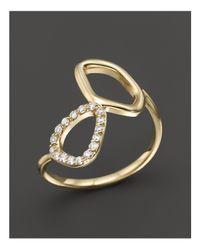 KC Designs Metallic Diamond Geometric Ring In 14k Yellow Gold