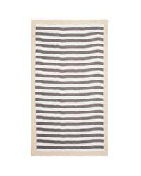 Aqua | White Striped Scarf | Lyst