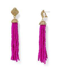 Aqua | Pink Leslie Tassel Drop Earrings | Lyst