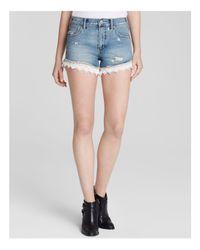 Free People Blue Shorts - Lacey Denim Cutoff