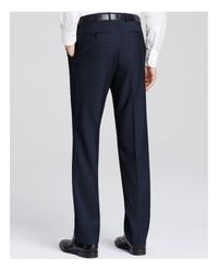 Canali - Blue Pin Dot Firenze Classic Fit Trousers for Men - Lyst