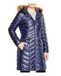 Marc New York Blue Long Puffer Coat