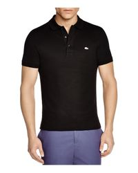 Lacoste Black Stretch Slim Fit Polo for men