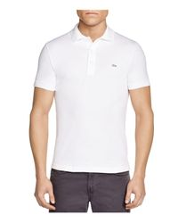 Lacoste | White Stretch Slim Fit Polo for Men | Lyst