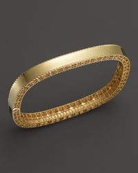 Roberto Coin   Metallic 18k Yellow Gold Princess Bangle   Lyst