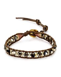 Chan Luu | Metallic Beaded Leather Bracelet | Lyst