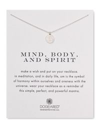 Dogeared | Metallic Mind Body Spirit Necklace, 18"