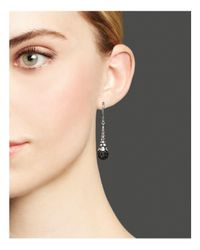 John Hardy | Metallic Women's Dot Silver Lava Earrings With Black Sapphire | Lyst