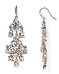 Carolee | Metallic Pavé Chandelier Earrings | Lyst