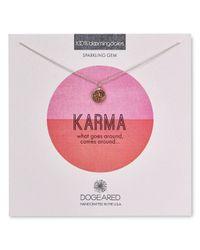 "Dogeared | Metallic Karma Druzy Bezel Necklace, 16"" - 100% Bloomingdale's Exclusive | Lyst"