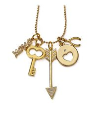 BaubleBar | Metallic Key To My Heart Charms, Set Of 5 | Lyst
