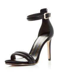 Kenneth Cole   Black Brooke Ankle Strap High Heel Sandals   Lyst