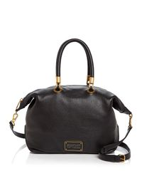Marc By Marc Jacobs Black New Too Hot To Handle Top Zip Satchel