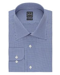 Ike Behar - Blue Mini Check Classic Fit Dress Shirt for Men - Lyst