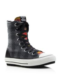 Converse Woolrich Hi Rise High Top Sneakers in Gray - Lyst