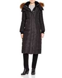 Mackage   Black Jada Fur Trim Puffer Coat   Lyst