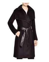 Mackage Black Nori Asymmetric Belted Coat