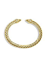 David Yurman - Yellow Waverly Bracelet With Diamonds In Gold - Lyst